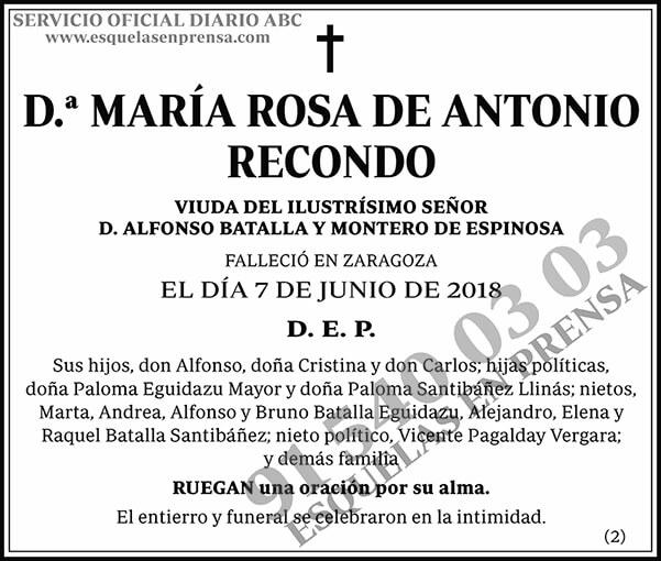 María Rosa de Antonio Recondo